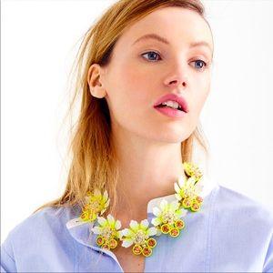 J.Crew Brûlée flower Necklace